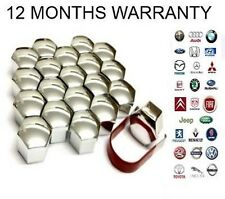 20x Alloy Wheel Nut Bolt Caps Saab Vauxhall Volvo Peugeot Renault Kia Ford 19mm