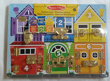 MELISSA AND DOUG LATCHES BOARD WOODEN EDUCATIONAL TOY BRAND NEW & SEALED