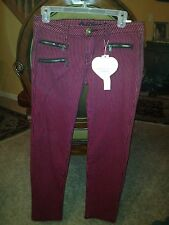 NWT Bubblegum Strip Skinny Jeans 9/10