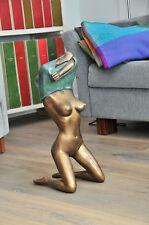 Großer Frauen Akt erotische Bronze nackt erotik sexy Skulptur, schöne Details !