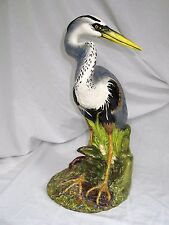 """THE TOWNSENDS CERAMICS HERON Hand Painted SIGNED & DATED 1981 17"""" LARGE BIRD"""