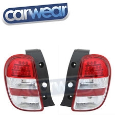 DEPO LED TAIL LIGHTS CLEAR RED NISSAN MICRA ST ST-L TI 10-14
