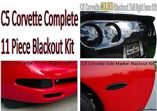 C5 Corvette Complete 11 Piece Blackout Kit Front Rear Sidemarkers Smoked Lights