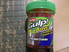 "Berkley Gulp! Alive! 1"" Pinched Crawler bubblegum NIP not floating"