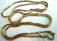 TRIFARI LONG GOLD PLATED CHAIN NECKLACE 50'S ANTIQUE ESTATE JEWELRY