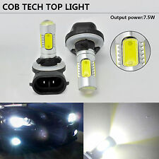 2x 881 H27W 893 889 COB LED Fog Lights Xenon White 6000K LED Bulbs Driving Lamp