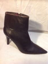 Enzo Angiolini Brown Ankle Leather Boots Size 7M (U.K. Size 5)