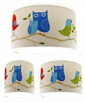NEW Lampshade Handmade with Harlequin What A Hoot Blue Wallpaper FREE P&P