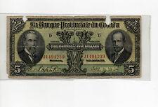 La Banque Provinciale du Canada 1919, $5