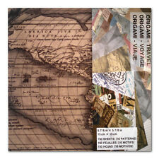 Origami Paper Travel Theme 6X6 150 Sheets