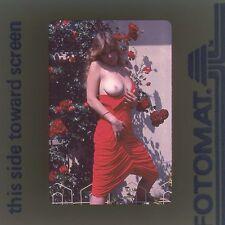 Vintage Nude 35mm Transparency Slide Busty Amateur Female Model Photo BN8.18