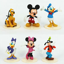 6Pcs Mickey Mouse Clubhouse Minnie Goofy Figures Playsets PVC Toys Cake Topper