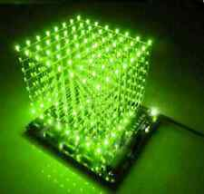1PCS 3D LightSquared DIY Kit 8x8x8 3mm LED Cube Green Ray LED NEW