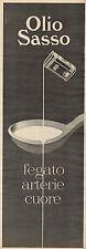 J0430 Olio SASSO - Pubblicità - 1961 Vintage Advertising