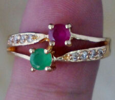 Emerald & ruby ring size 5.5
