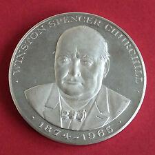 1965 Winston Churchill 57mm Plata Prueba De Medalla-Frank Kovacs