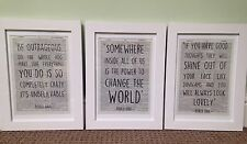 3 X Roald Dahl Quote Vintage Dictionary Page Wall Art Pictures Prints Framed Set