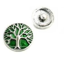 Green Family Tree Of Life Interchangeable Snap Charm #263