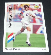 MARCELO BALBOA US SOCCER FOOTBALL CARD UPPER DECK USA 94 PANINI 1994 WM94