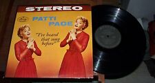Patti Page I've Heard That Song Before Record LP Album