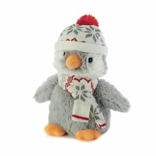 Intelex Cozy Plush Penguin With Hat Fully Microwavable Toy Cuddle Soft Lavender