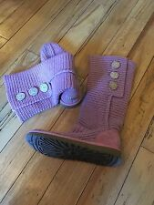 Ugg Boots Tall Cardigan Knit Rose Pink Size 8