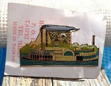 VINTAGE RIVERBOAT STEAMBOAT ANDALUSIA CARDED PIN LIONS CLUB INTERNATIONAL