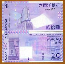 Macao / Macau 20 Patacas, 2013, P-81-New Signature, BNU, UNC