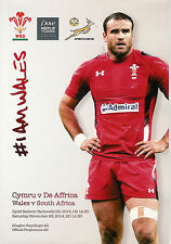 Wales v South Africa 29 Nov 2014 at Millennium Stadium, Cardiff RUGBY PROGRAMME
