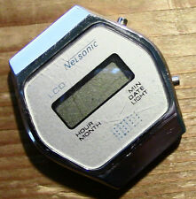 Funky Vintage 1980's Nelsonic LCD Fake Calculator Watch