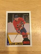 1987-88 OPC CLAUDE LEMIEUX Rookie #227 RC MINT O-Pee-Chee CANADIENS