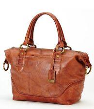 NWOT Frye Campus Zip Satchel Leather Shoulder Bag - Saddle - Dust Bag Included