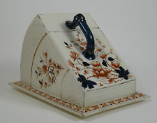 A large Victorian aesthetic cheese dish and cover by F. Winkle, Stoke c1885