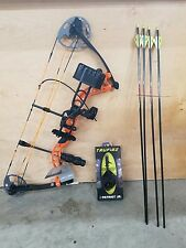 New 2016 Diamond Prism Bow Orange Infinite Edge W/Quiver Stab Arrows And Release