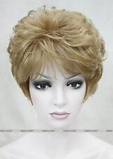 Golden-brown short Curly Women Ladies Daily Natural Fluffy Wig FTTLD166