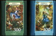 MasterPieces ALICE IN WONDERLAND and DOWN THE RABBIT HOLE 300 pc EZ-GRIP puzzles