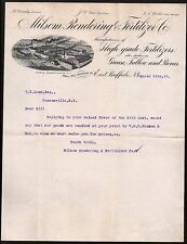 East Buffalo 1896 Milsom Rendering Fertilizer Co Grease Tallow Bones Letterhead