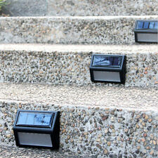 6Pack  Garden Solar LED LIGHTS Stair Step Deck Wall LED Pathway Yard Lamps CE