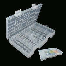 AAA AA C D 9V  Battery Storage Case Holder Hard Plastic Box Organiser