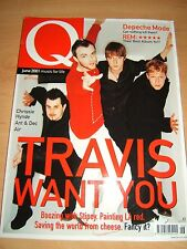Q Magazine 177 June 2001 features Travis, Depeche Mode and REM