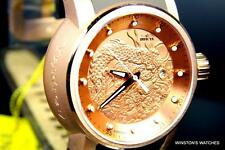 Men Invicta S1 Dragon Yakuza Rose Gold Automatic NH35A Brown Rubber Watch New