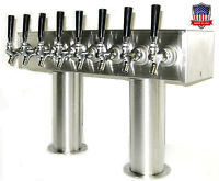 Draft Beer Tower Keg Tap Tower Beer Parts - PTB-8SS - MADE IN THE USA !!