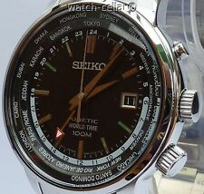 Seiko totalmente nuevo para hombre Kinetic GMT World Time Watch. SUN069P1