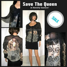$330 New SAVE THE QUEEN Top Silk Blouse T 38-40 / M (medium) #Italy #Party #Prom