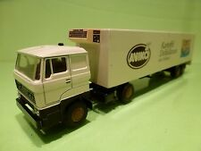 LION CAR 58 36 DAF 3300 TRUCK + TRAILER - AVIKO - BROKEN WHITE 1:50 - GC