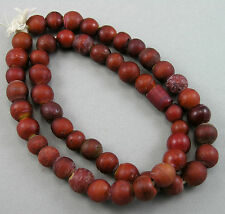Antique Cornaline d'Aleppo Venetian Red Glass African Trade Beads, Italy