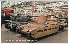 Royal Armoured Corps Tank Museum Bovington,  PPC, Unposted, Matilda 2, Crusader