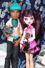 Monster High Clawd Wolf + Draculaura School`s Out Forbitten Love Puppe / Doll