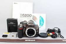Excellent+ Nikon D5200 SLR Camera Body Bronze w/ extra From Japan 513