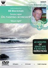 Bill Blackman, 4, DVDs a 3 Disc set, Seascapes in OILS, Plus  Oil Medium Use DVD